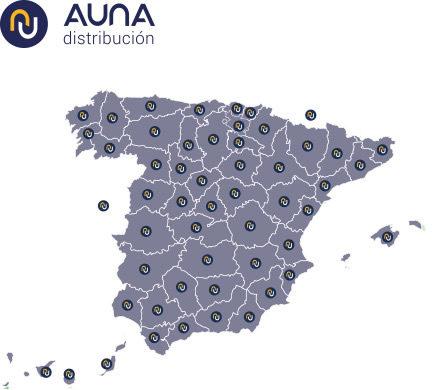 Mapa Auna Distribución